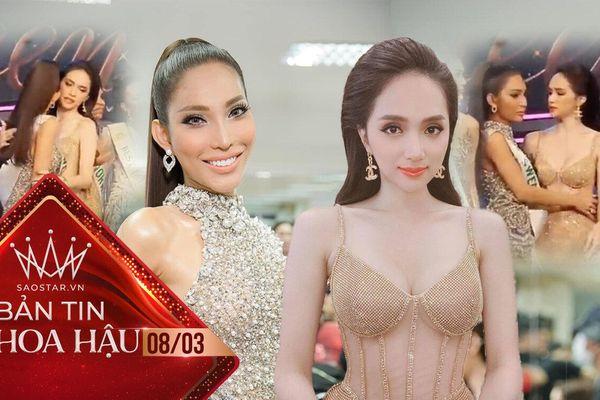 Khoảnh khắc đẹp: Hương Giang dang tay ôm động viên Vicky Trần tại Miss International Queen 2020