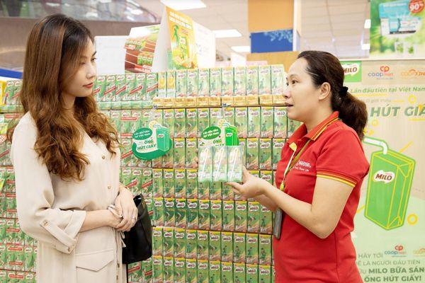 Hành động vì môi trường, Nestlé Milo sử dụng 16 triệu ống hút giấy