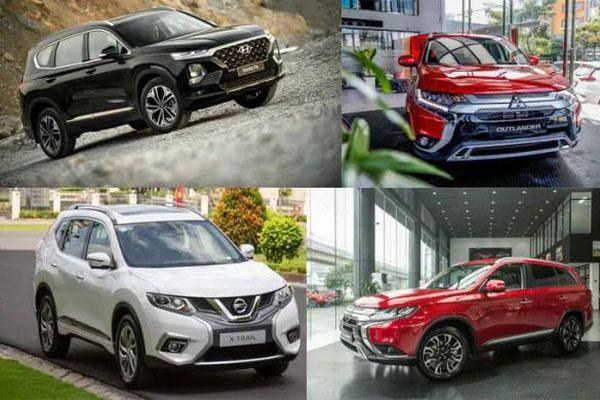 Chọn xe lắp ráp Mitsubishi Outlander 2020 hay Nissan X-Trail, Hyundai SantaFe?