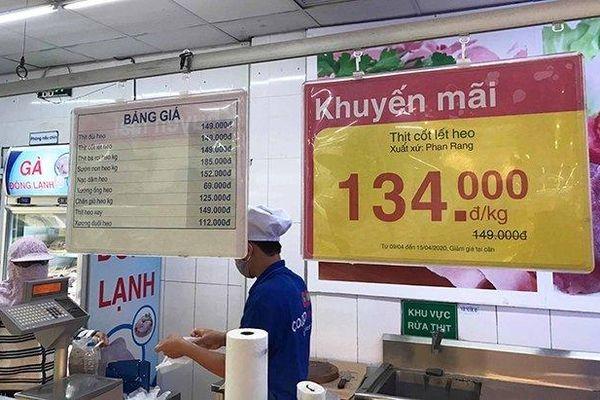Ninh Thuận giá thịt lợn ở siêu thị, chợ vẫn rất cao