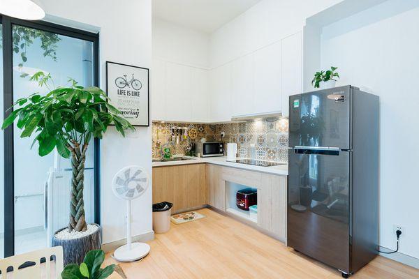 Gian bếp xanh cho căn hộ nhỏ hút dân mạng yêu nấu nướng