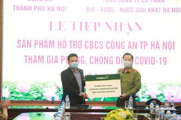 Công an TP Hà Nội tiếp nhận sản phẩm hỗ trợ phòng chống dịch Covid-19
