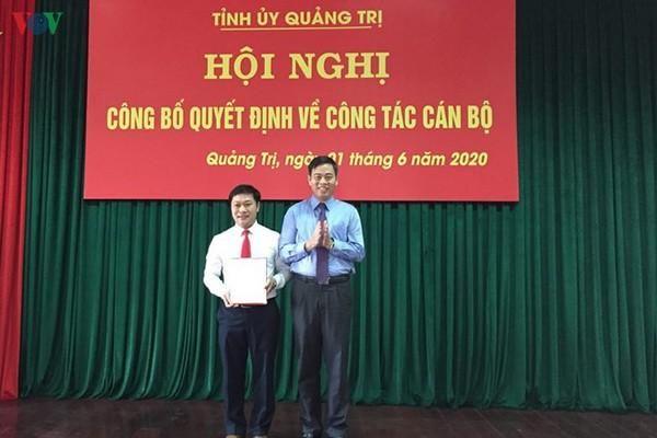 Bí thư Tỉnh đoàn làm Bí thư Đảng ủy khối Cơ quan và DN tỉnh Quảng Trị