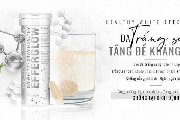 Healthy White EfferGlow quảng cáo lừa tác dụng 'uống trắng da'