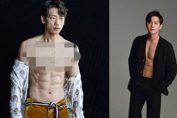 'Bấn loạn' màn mặc áo phanh ngực khoe 6 múi cực phẩm của sao Hàn