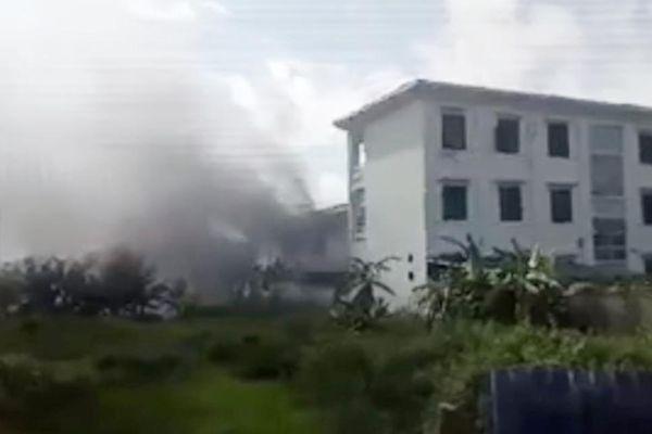 Trường mầm non Hà Nội bất ngờ bốc cháy