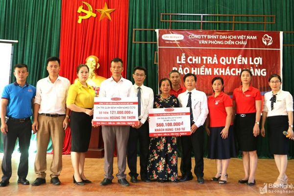 Bảo hiểm Nhân thọ Dai-ichi Việt Nam chi trả hơn 680 triệu đồng cho khách hàng