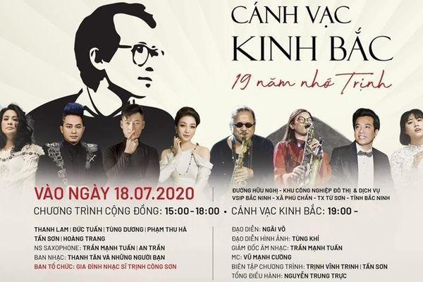 Toàn bộ vé mời của đêm nhạc Trịnh chủ đề 'Cánh Vạc Kinh Bắc' sẽ được phát miễn phí