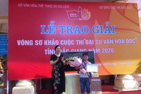 Tổng kết và trao giải vòng sơ khảo 'Đại sứ Văn hóa đọc tỉnh Bắc Giang năm 2020'
