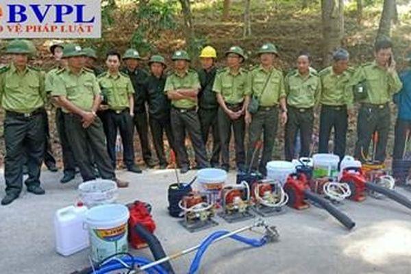 Thanh Hóa: Diễn tập nhưng phải chữa cháy rừng thật