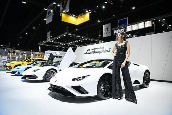 Dàn xe Lamborghini gần 100 tỷ đồng tại triển lãm Bangkok 2020