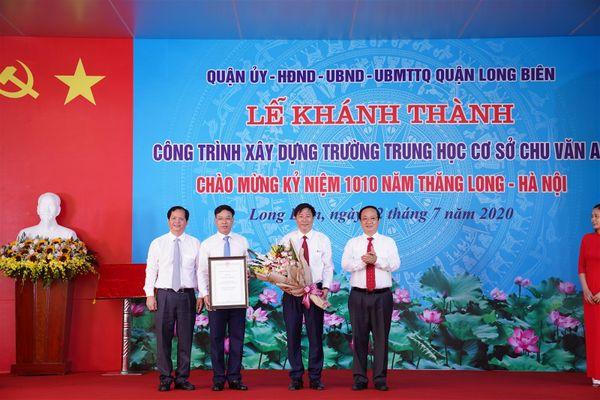 Hà Nội: Khánh thành trường THCS Chu Văn An chào mừng kỷ niệm 1010 năm Thăng Long - Hà Nội