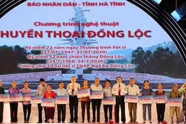 Bộ trưởng Tô Lâm dự chương trình nghệ thuật 'Huyền thoại Đồng Lộc'