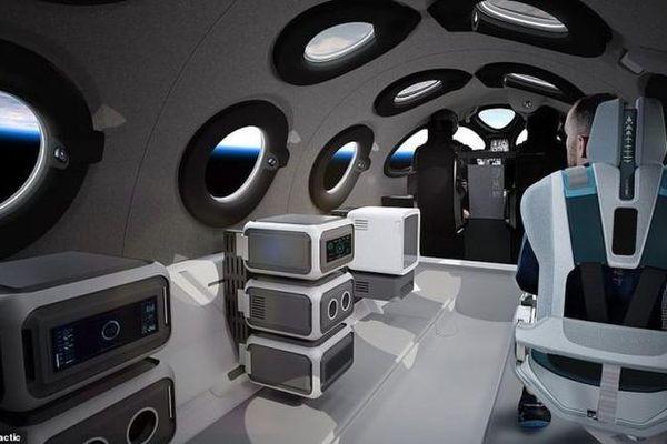 Khám phá bên trong cabin trên tàu vũ trụ cho giới siêu giàu