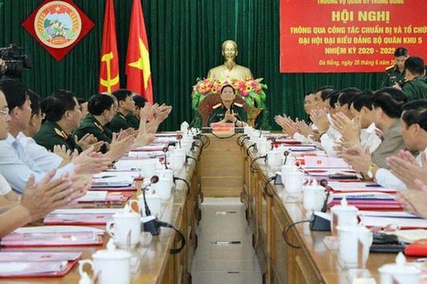 Tạm hoãn Đại hội Đại biểu Đảng bộ Quân khu 5 để tập trung phòng chống dịch