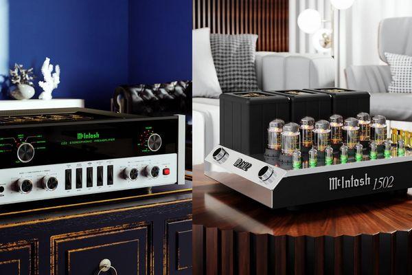 Audiophiles mê vintage lại mất ngủ với bộ ampli đèn mới C22 MkV và MC1502 của McIntosh