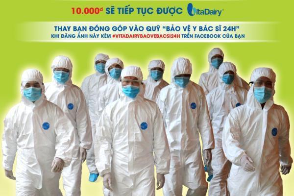 VitaDairy tiếp tục trao tặng 5 tỷ đồng cho quỹ 'Bảo vệ y bác sĩ 24h'