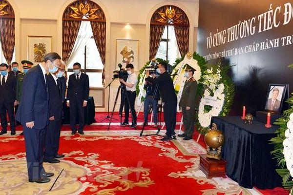 Trang trọng tổ chức lễ viếng nguyên Tổng Bí thư Lê Khả Phiêu tại nhiều nước
