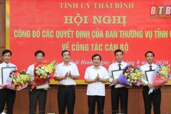 Bổ nhiệm nhân sự mới Thái Bình, Nghệ An, Hà Tĩnh