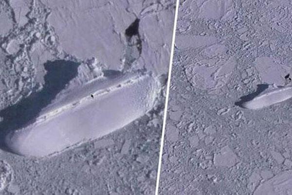 Đồn đoán kỳ lạ về 'con tàu băng' bí ẩn ở ngoài khơi Nam Cực