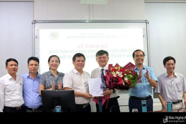 Trao quyết định bổ nhiệm Phó Giám đốc Bệnh viện Đa khoa Thành phố Vinh