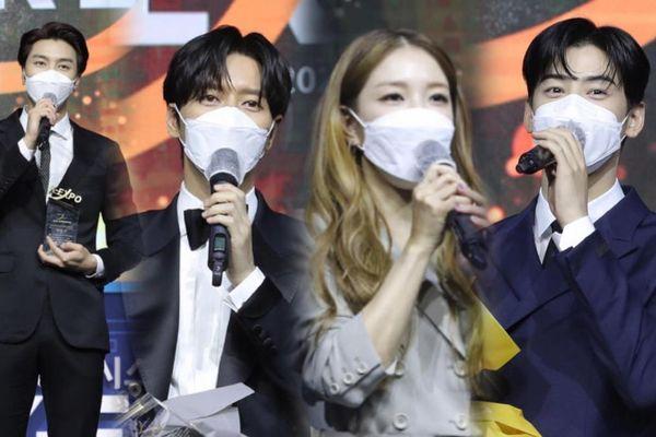 BoA, Park Hae Jin, Cha Eun Woo và NCT 127 đeo khẩu trang nhận giải thưởng 'Làn sóng Hàn Lưu 2020'
