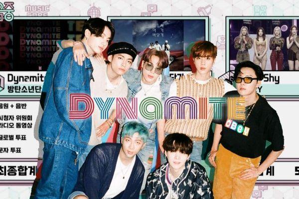 Không có sân khấu quảng bá, DYNAMITE (BTS) vẫn dư sức 'đạp đổ' SSAK3 và ITZY tại Music Core