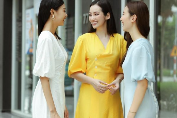 Hoa hậu Trúc Diễm dạo phố với thời trang nữ tính