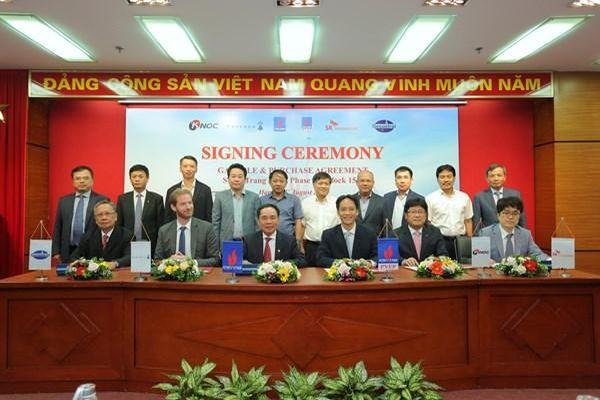 Ký kết thỏa thuận mua bán khí mỏ Sư Tử Trắng giai đoạn 2A