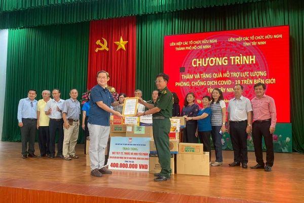 HUFO hỗ trợ vật tư y tế cho các chiến sĩ Bộ đội Biên phòng tỉnh Tây Ninh