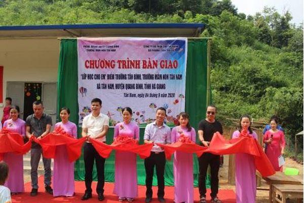 Hà Giang: Thủ Đô Multimedia trao tặng lớp học mới tại thôn Tân Bình, xã Tân Nam, huyện Quang Bình