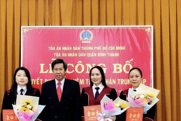 Bổ nhiệm nhiều thẩm phán tại TAND quận Bình Thạnh, TP.HCM