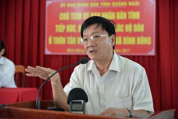 Thi hành kỷ luật ông Trần Ngọc Căng nguyên Chủ tịch UBND tỉnh Quảng Ngãi