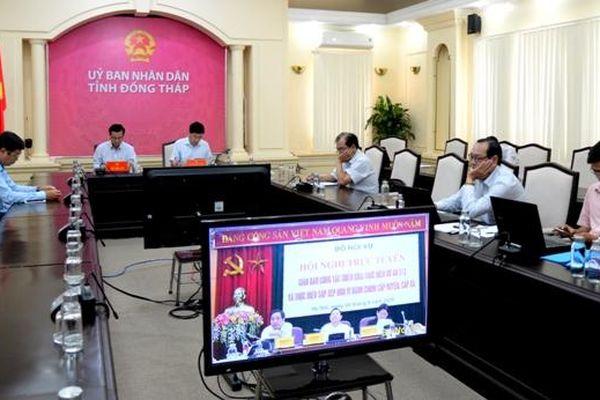 Bộ Nội vụ giao ban trực tuyến về công tác thực hiện Dự án 513 và sắp xếp đơn vị hành chính cấp huyện, xã