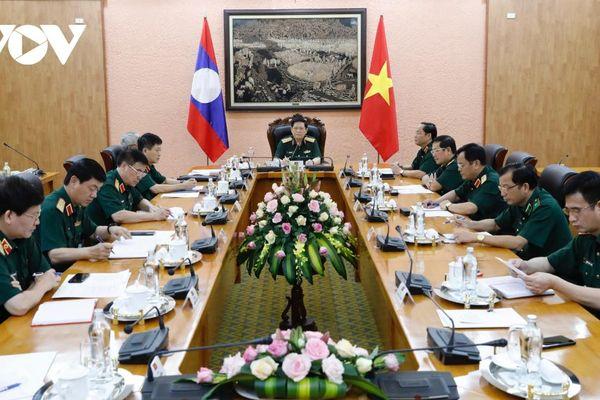 Quân đội Việt Nam tiếp tục chia sẻ kinh nghiệm, hỗ trợ Lào phòng chống Covid-19