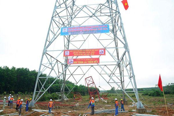 Thi công đường dây 500KV mạch 3 tại Quảng Nam: Vướng giải phóng mặt bằng