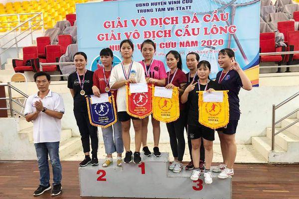 Giải vô địch cầu lông - đá cầu H.Vĩnh Cửu năm 2020