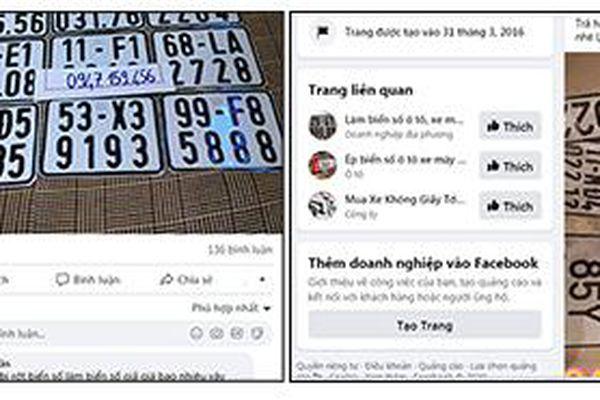 Ngăn ngừa hành vi dùng biển số xe giả