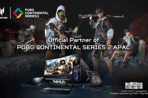 Acer trang bị Predator Triton 500 mới cho các game thủ tại PUBG Continental Series 2 APAC