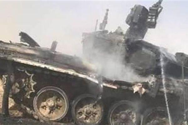 T-90A cháy đen do đồng đội bắn nhầm