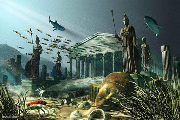 Vết tích thành phố Atlantis dưới đáy biển