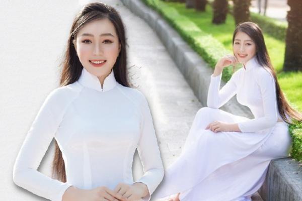 Thí sinh nhỏ tuổi nhất Hoa hậu Việt Nam khuynh đảo dân mạng khi diện áo dài trắng