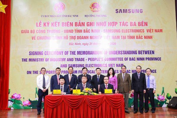 Samsung Việt Nam ký Biên bản ghi nhớ Dự án hỗ trợ doanh nghiệp Việt Nam tại tỉnh Bắc Ninh