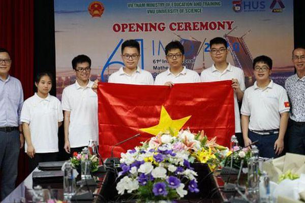 6 thành viên Việt Nam tranh tài tại kỳ thi Olympic Toán quốc tế 2020