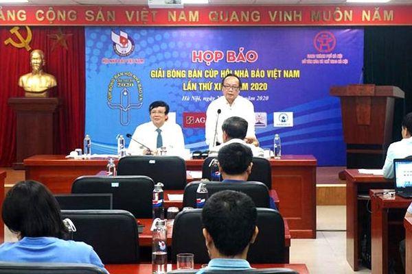 Hơn 200 vận động viên tham dự Giải Bóng bàn Cúp Hội Nhà báo Việt Nam 2020