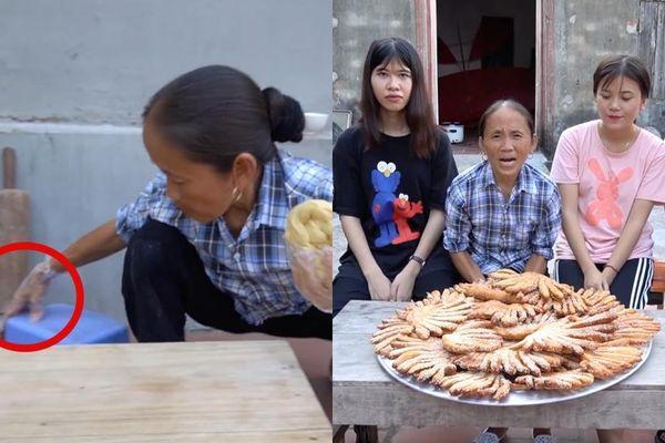 Bà Tân Vlog tiếp tục bị dân mạng 'soi' ra chi tiết mất vệ sinh khi làm món bánh tiêu