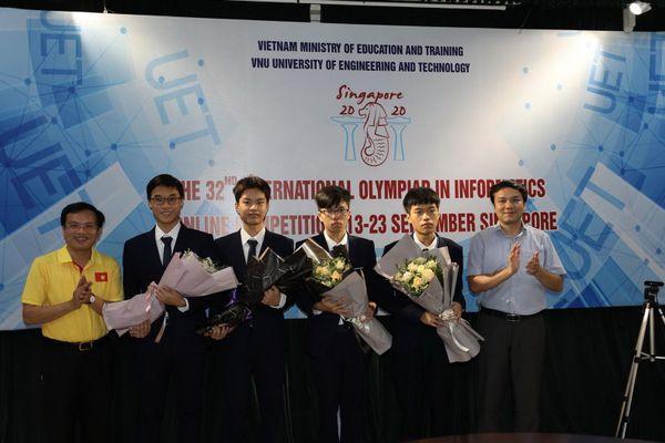 Đội tuyển Việt Nam tiếp tục giành Huy chương Vàng tại Olympic Tin học quốc tế 2020