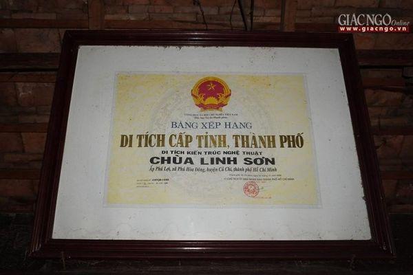 Linh Sơn : ngôi cổ tự lâu đời nhất ở Củ Chi