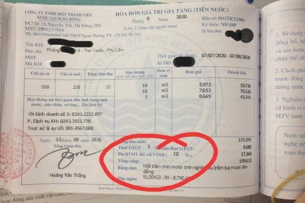 Hà Nội: Nhiều gia đình phản ánh tiền nước tại chung cư The Vesta tăng bất thường