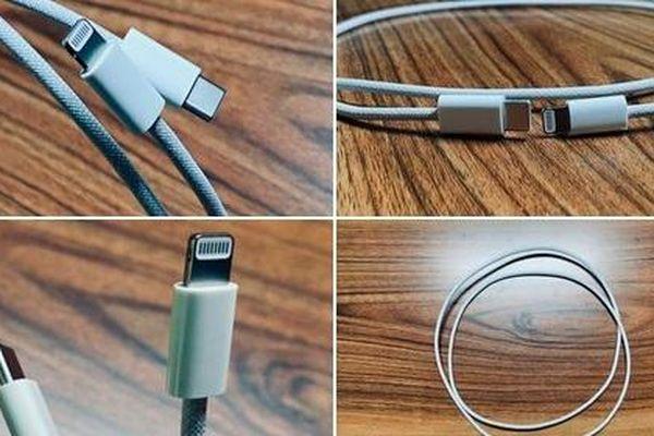 iPhone 12 lộ ảnh dây sạc bện chắc chắn